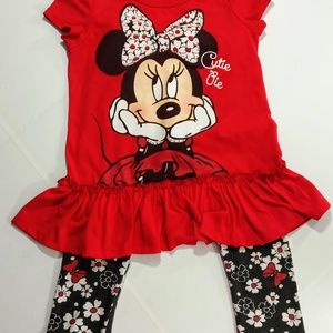 MINNIE TOP & BOTTOM OUTFIT DISNEY CUTIE PIE SZ. 3T
